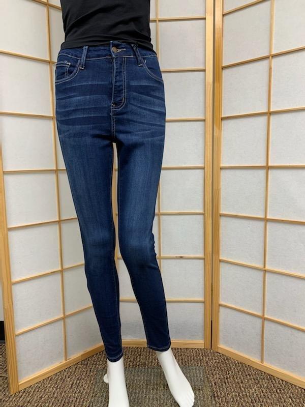 High Rise Skinny Dark Blue Skinny Jean