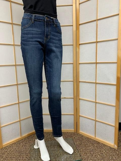 Dark High Rise Ankle Skinny Jean