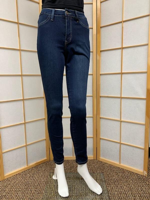 High Rise Dark Blue Skinny Jean