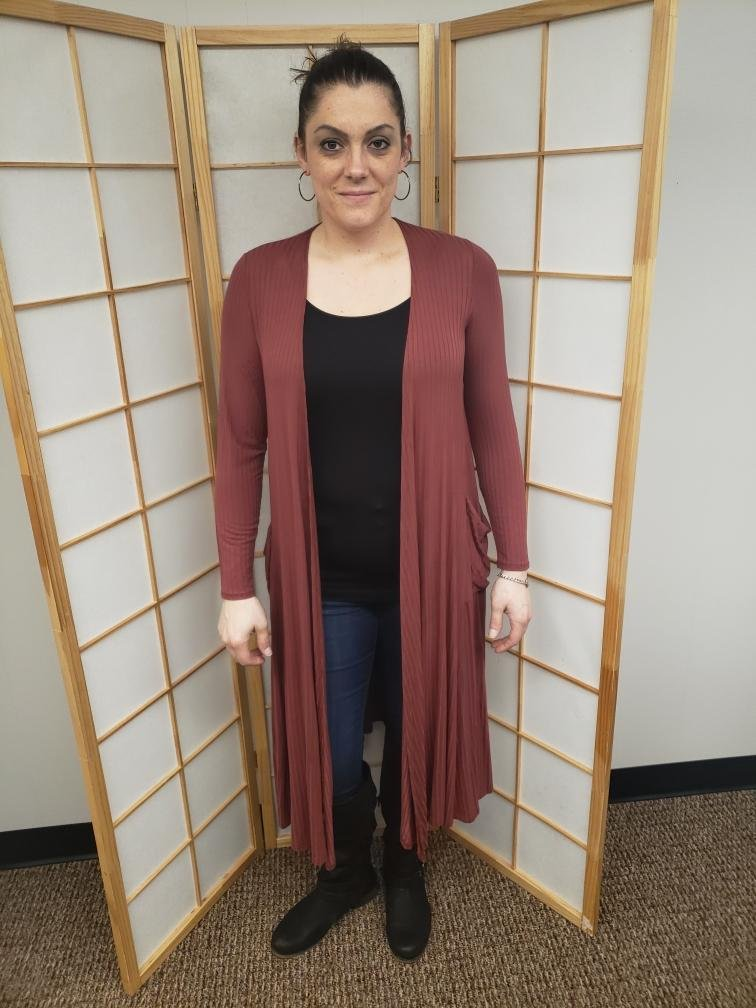 Jam Snap Button Long Cardigan *Curvy Approved*