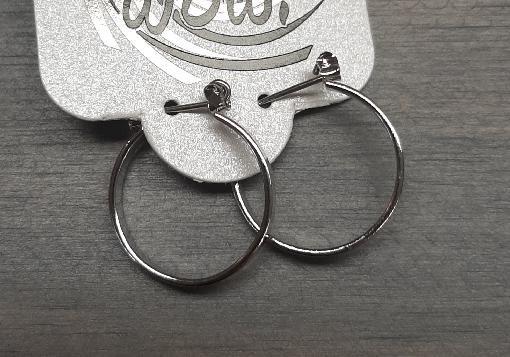 Medium Silver Hoop Earring