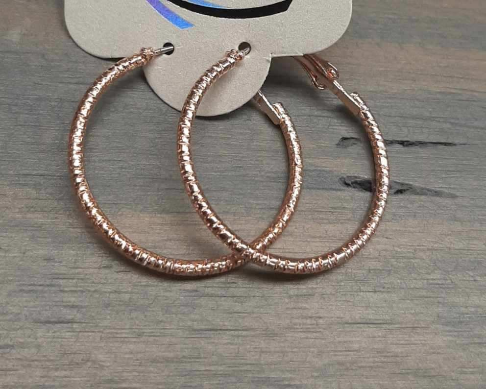 Rose Gold Hoop Earring
