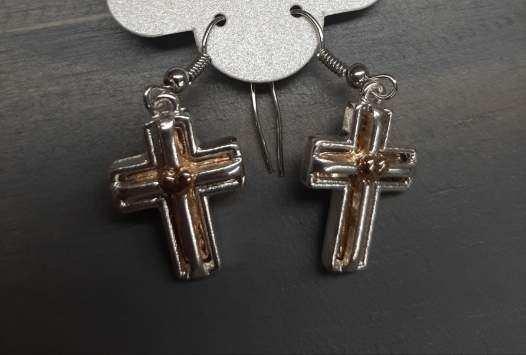 Cross Dangling Earring
