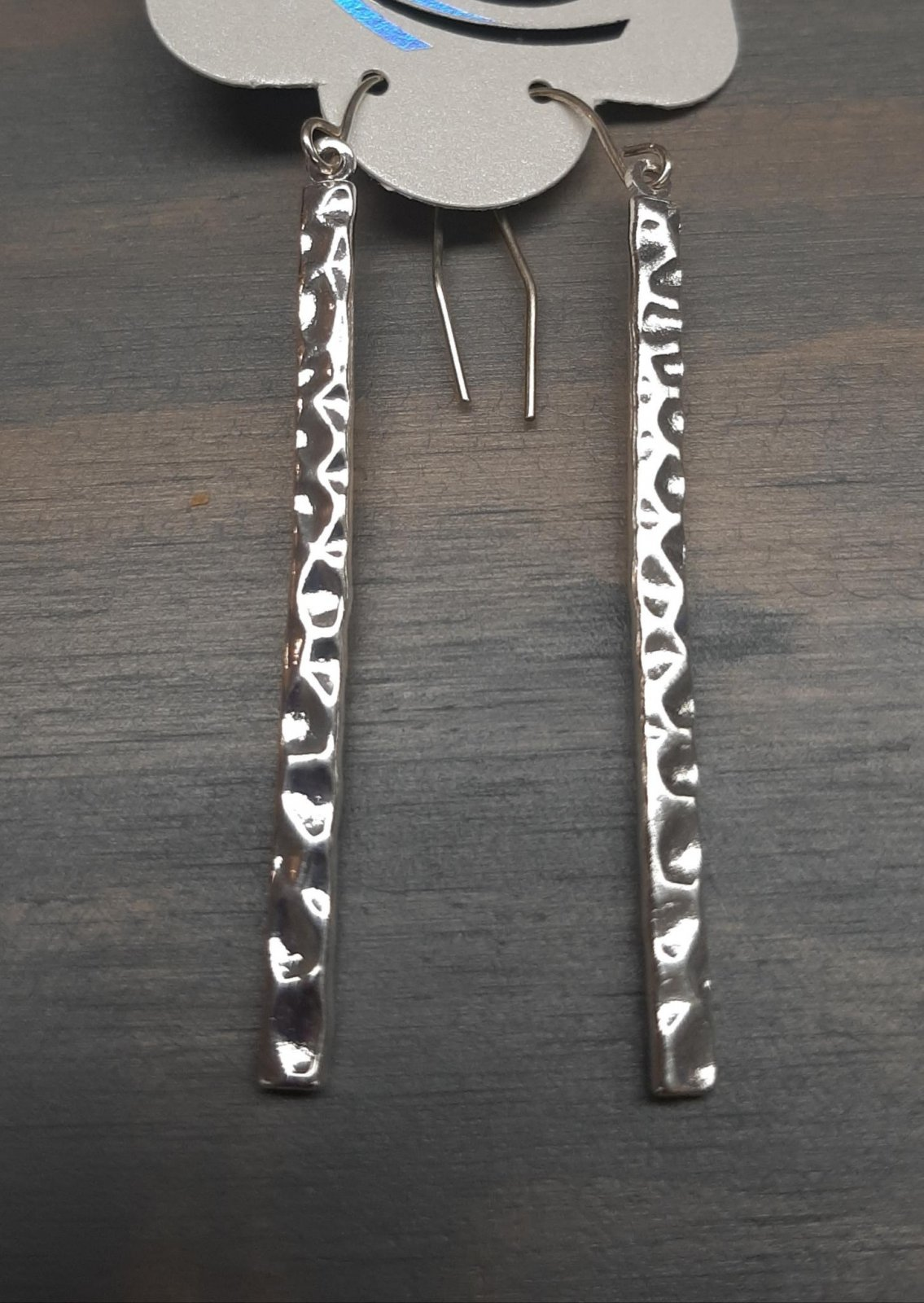 Silver Straight Dangling Earring