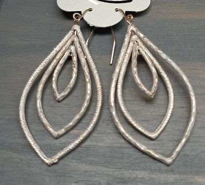 Rose Gold Frosted Dangling Earring