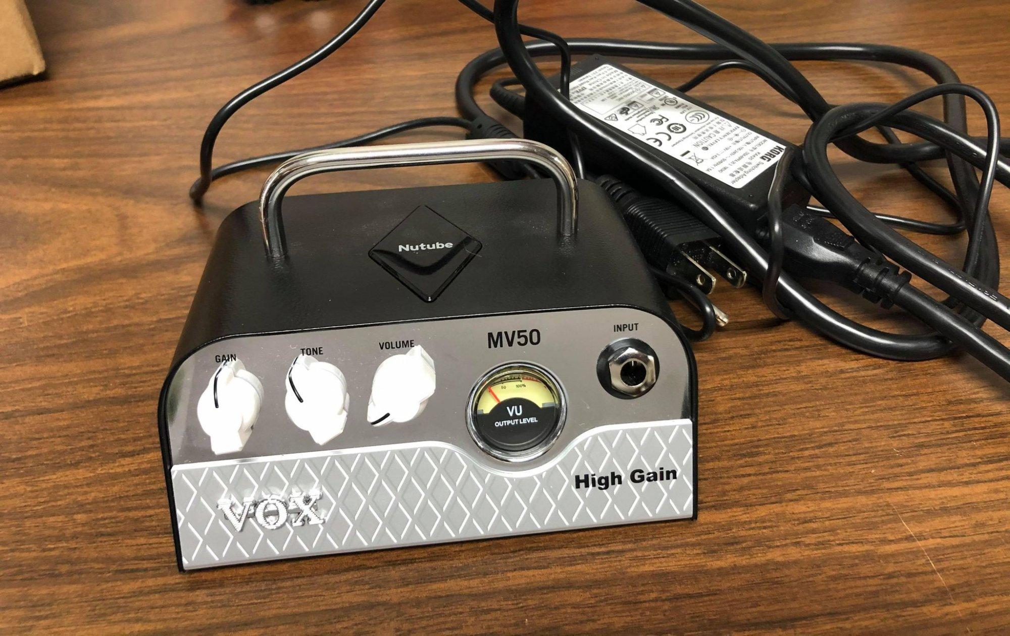 Vox MV50 High Gain Compact 50-Watt Guitar Head-USED