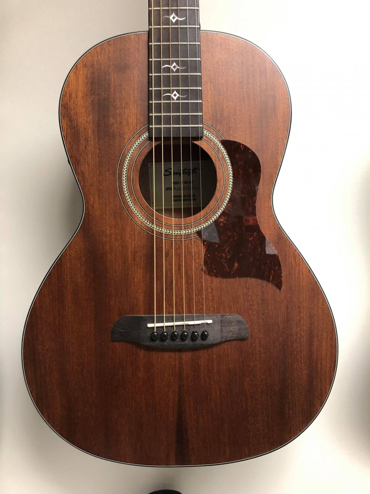 Sawtooth ST-MH-AEP Mahogany Parlor Acoustic/Electric Guitar