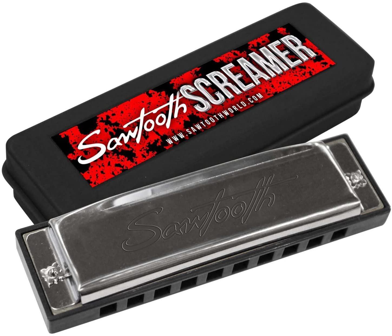 Sawtooth ST-HARP-SCREAM Screamer Chrome Plated Harmonica