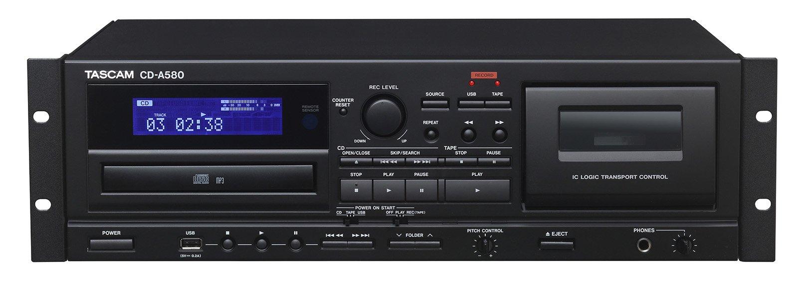 Tascam CD player/ Cassette Deck CD-A580