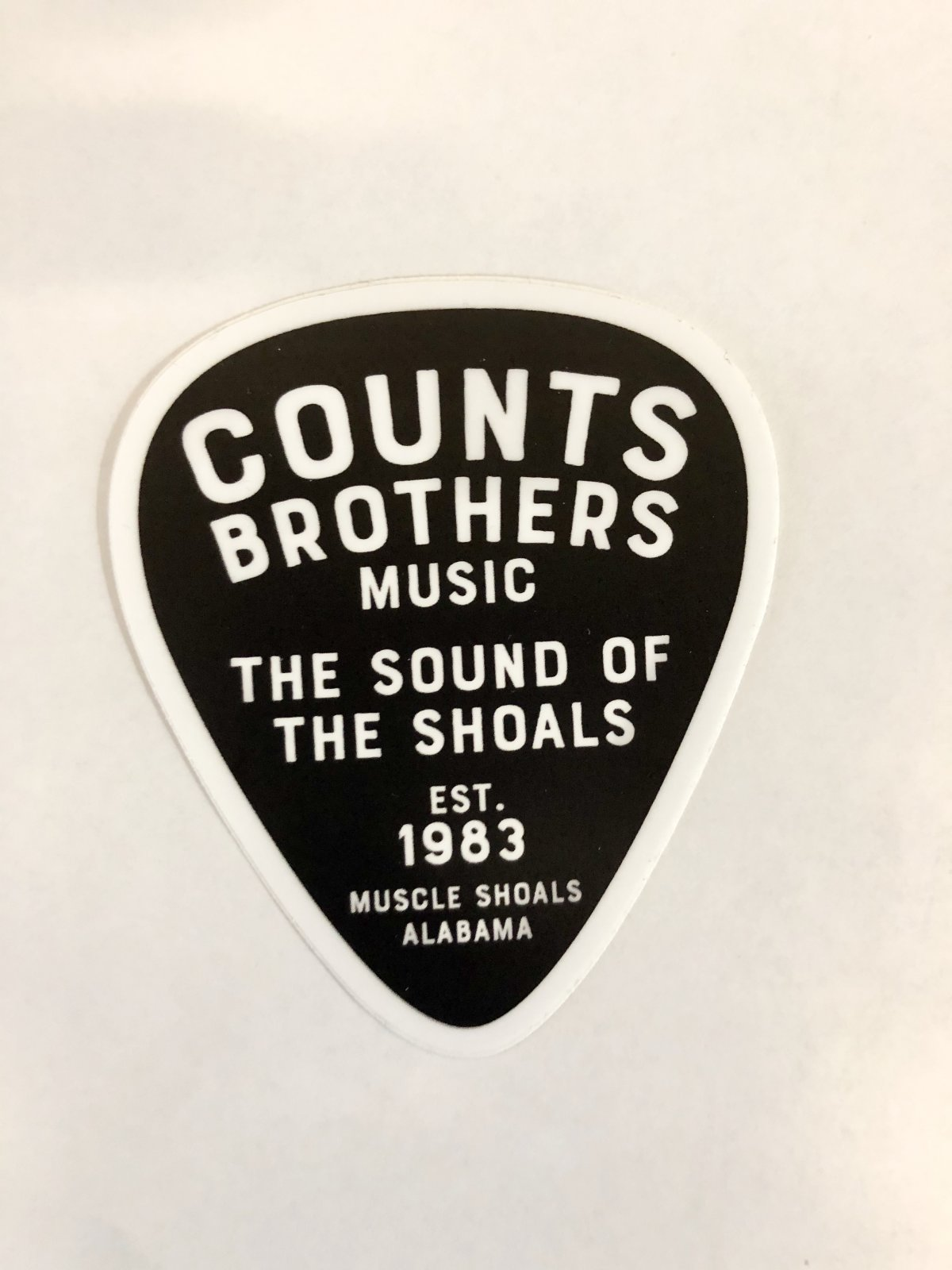 Counts Brothers Music Pick Sticker