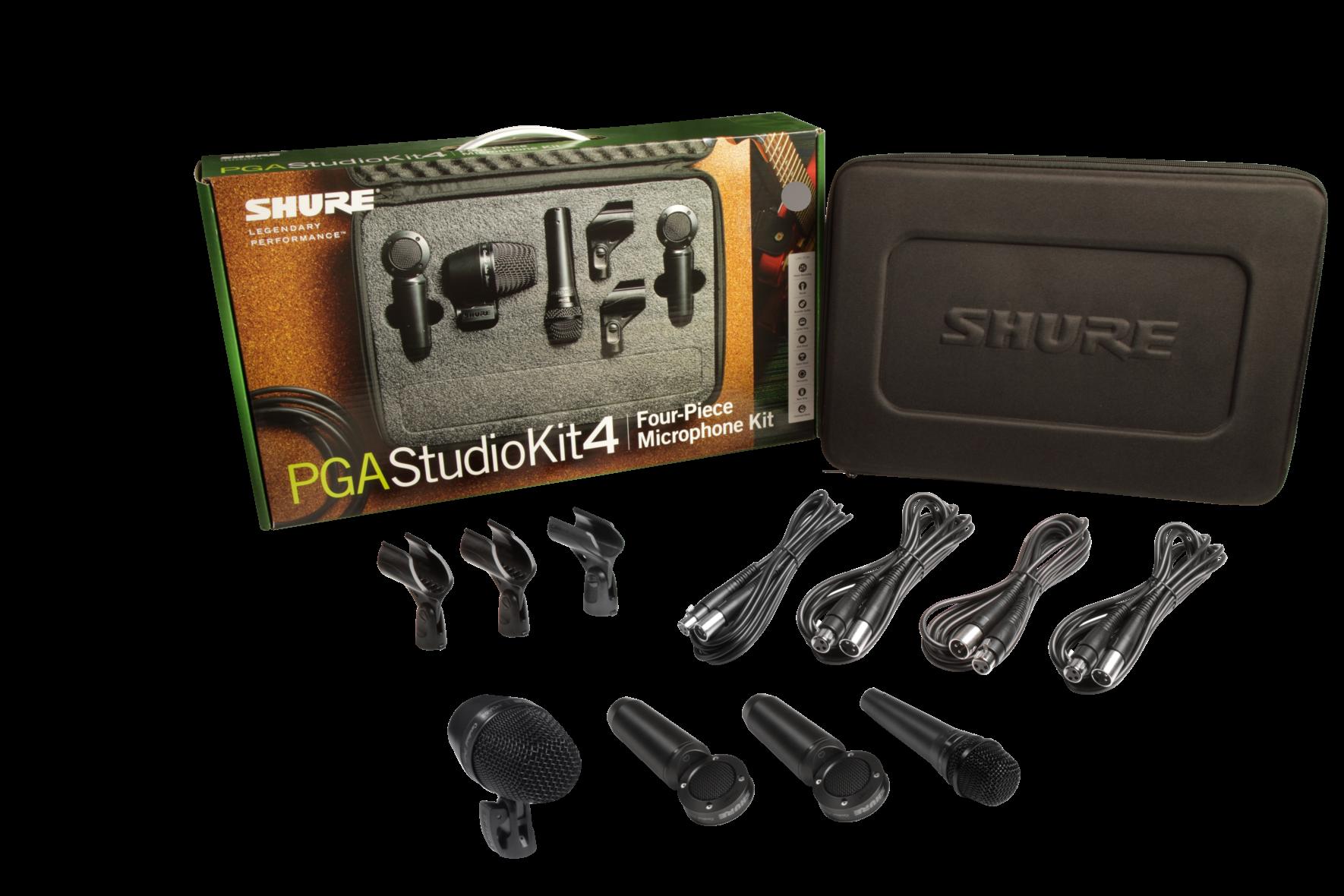 SHURE 4pc Studio Kit PGA52,57,181 x2