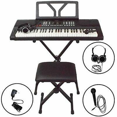 Sawtooth 61 Key Portable Electronic Digital Keyboard Piano  Bundle