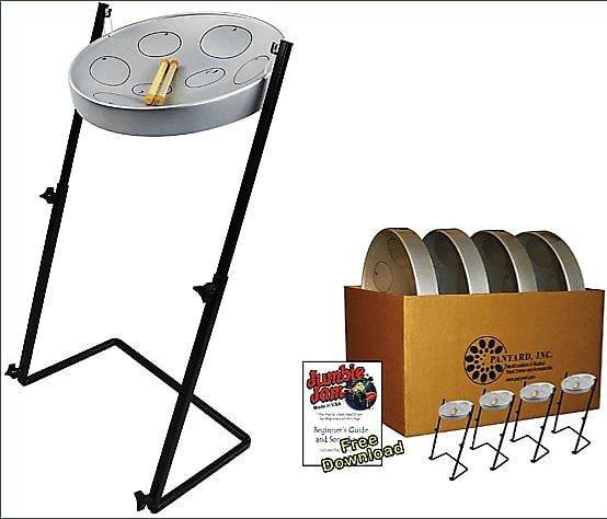 Panyard Jumbie Jam Educators 4-Pack With Metal Z-Floor Stand