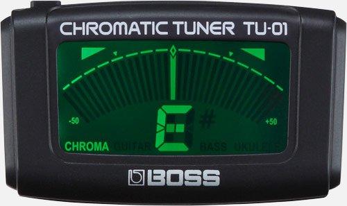 Boss TU-01 Chromatic Tuner blk clip-on