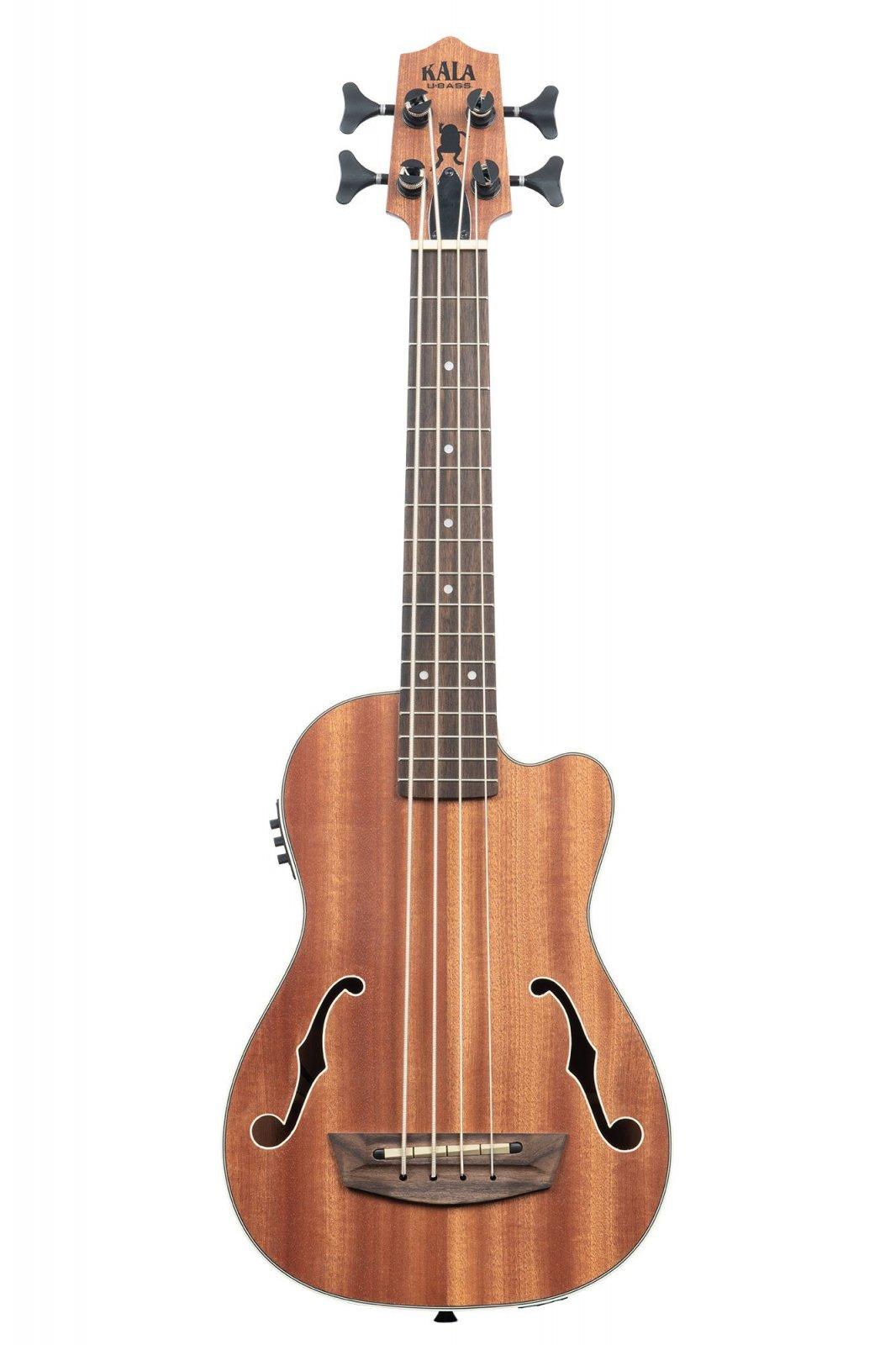 Kala UBASS-JYMN-FS Journeyman U-Bass with F-Holes and Electronics Natural