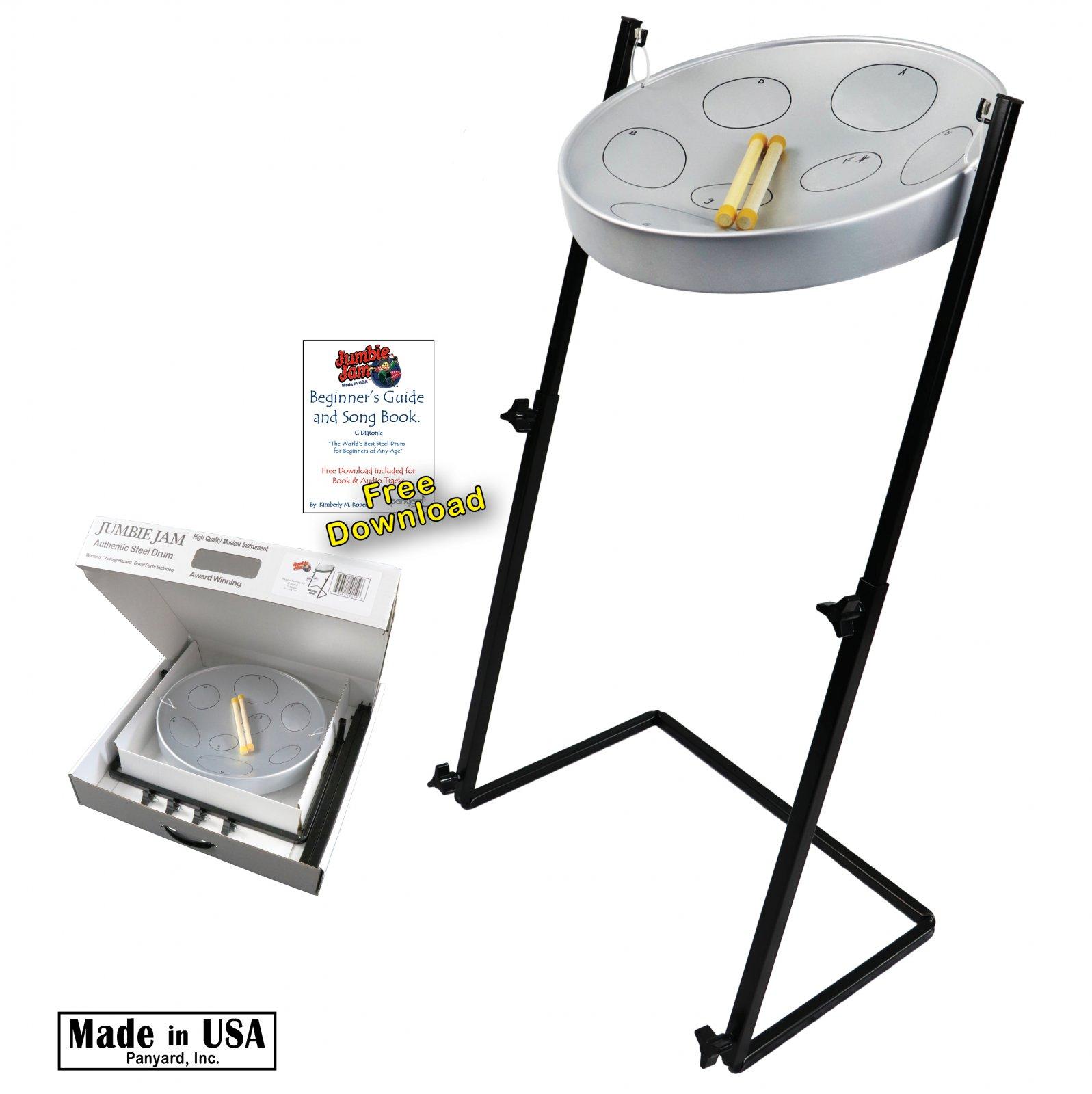 Panyard Jumbie Jam Steel Drum Ready-to-Play Kits with Metal Z-Floor Stand W1158