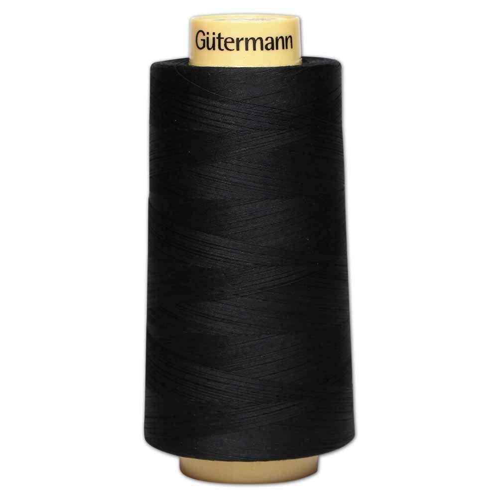 GÜTERMANN Cotton 50wt Thread 3000m - Black (5201)