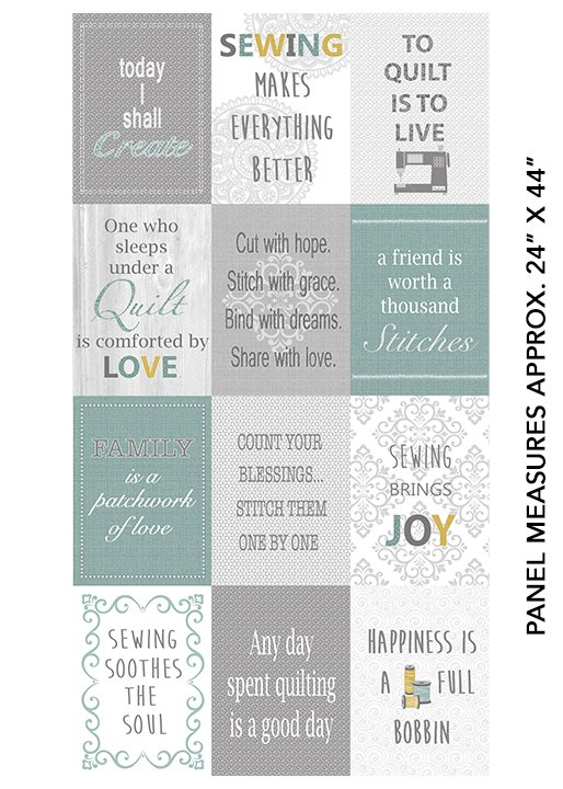 Words to Quilt By Patch Panel 6971-99