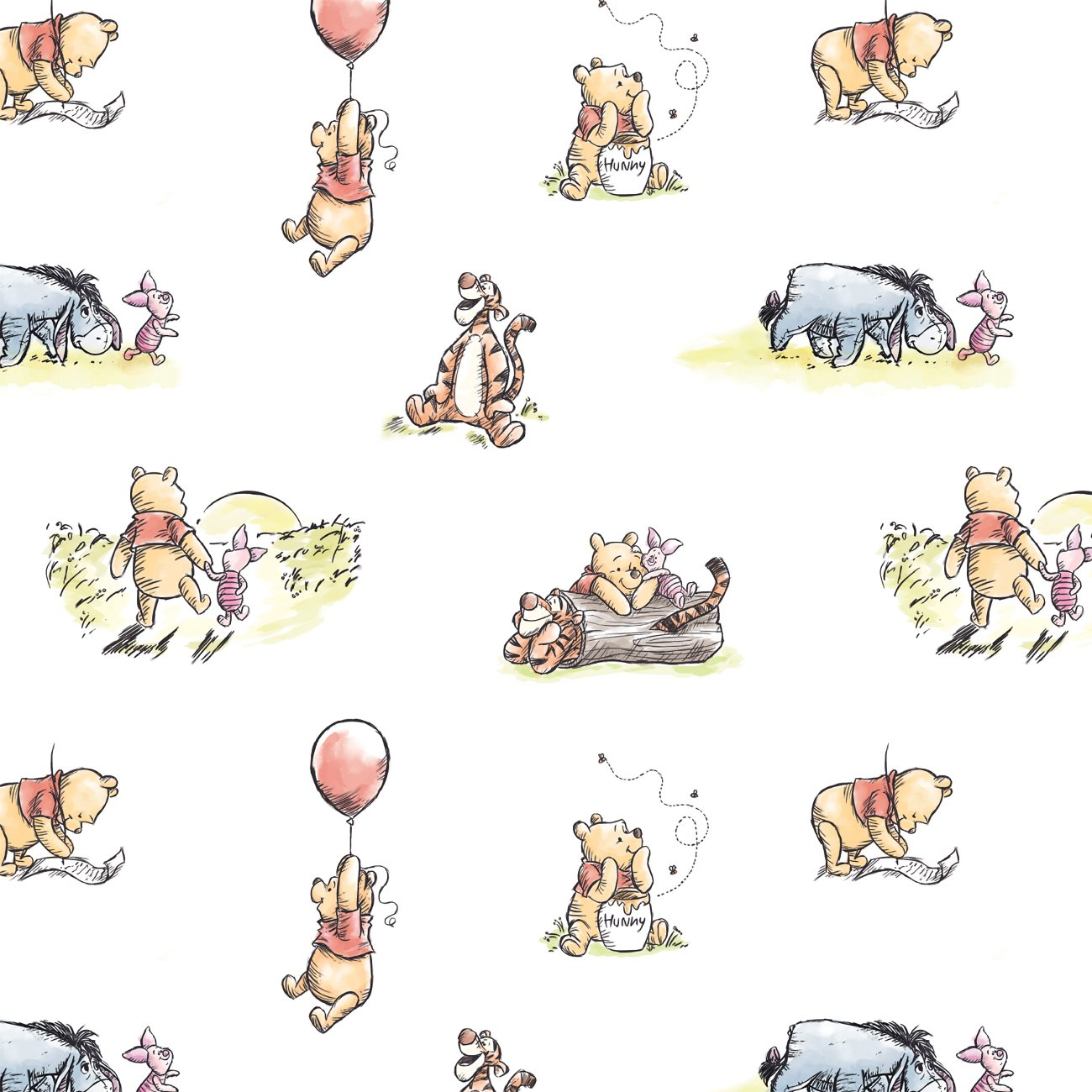 Winnie The Pooh Classic Collection 85430501_01 White