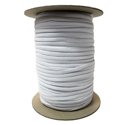 1/4 White Elastic - 10 meter increments