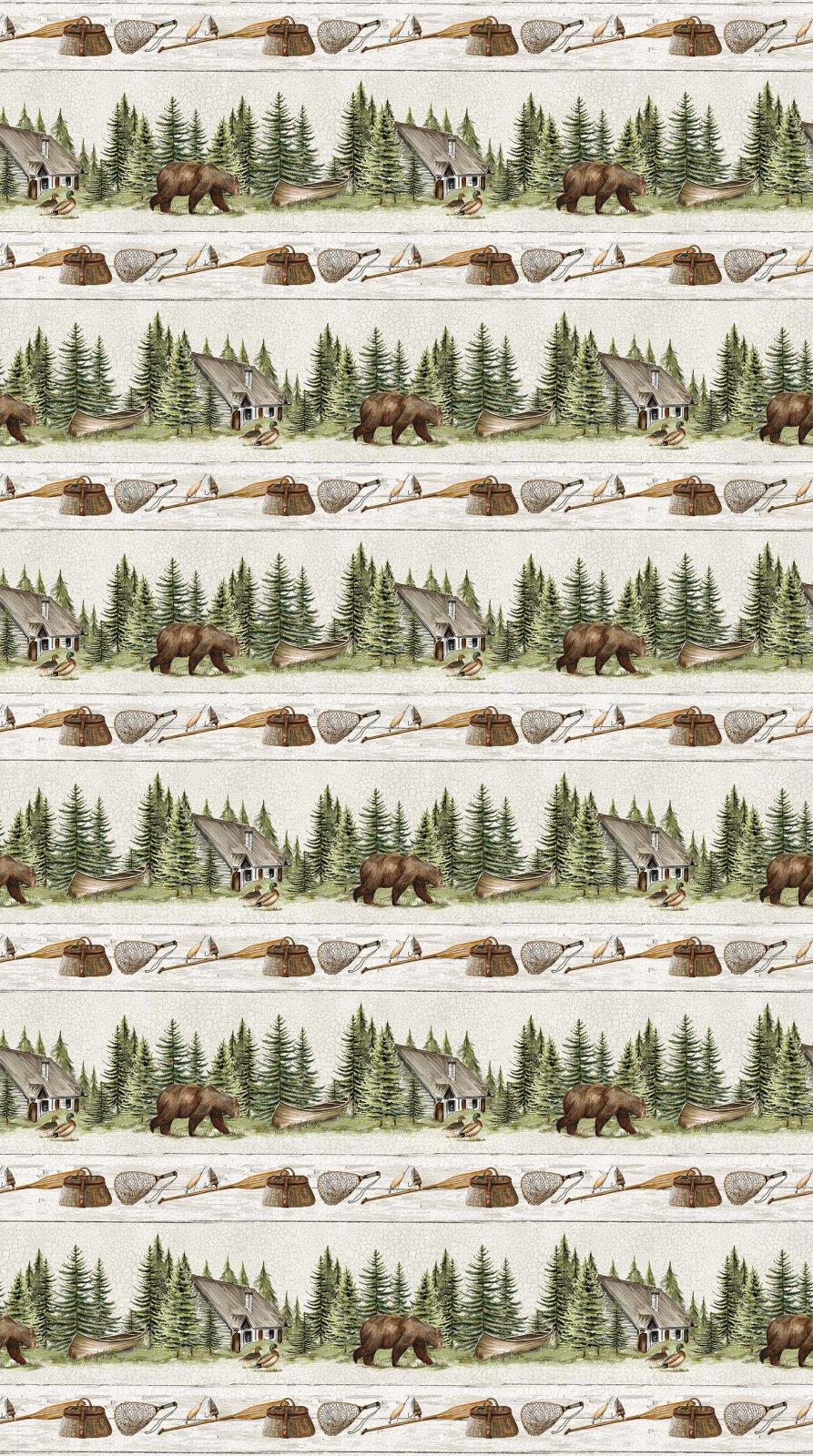 Lakeside Lodge Flannel F23554-92