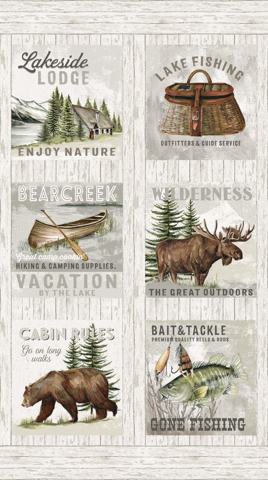 Lakeside Lodge Flannel F23583-92