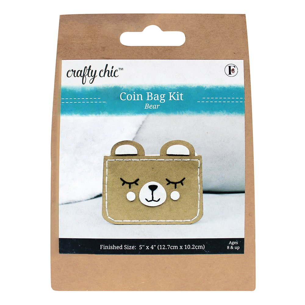 CRAFTY CHIC Coin Bag Kit - Bear