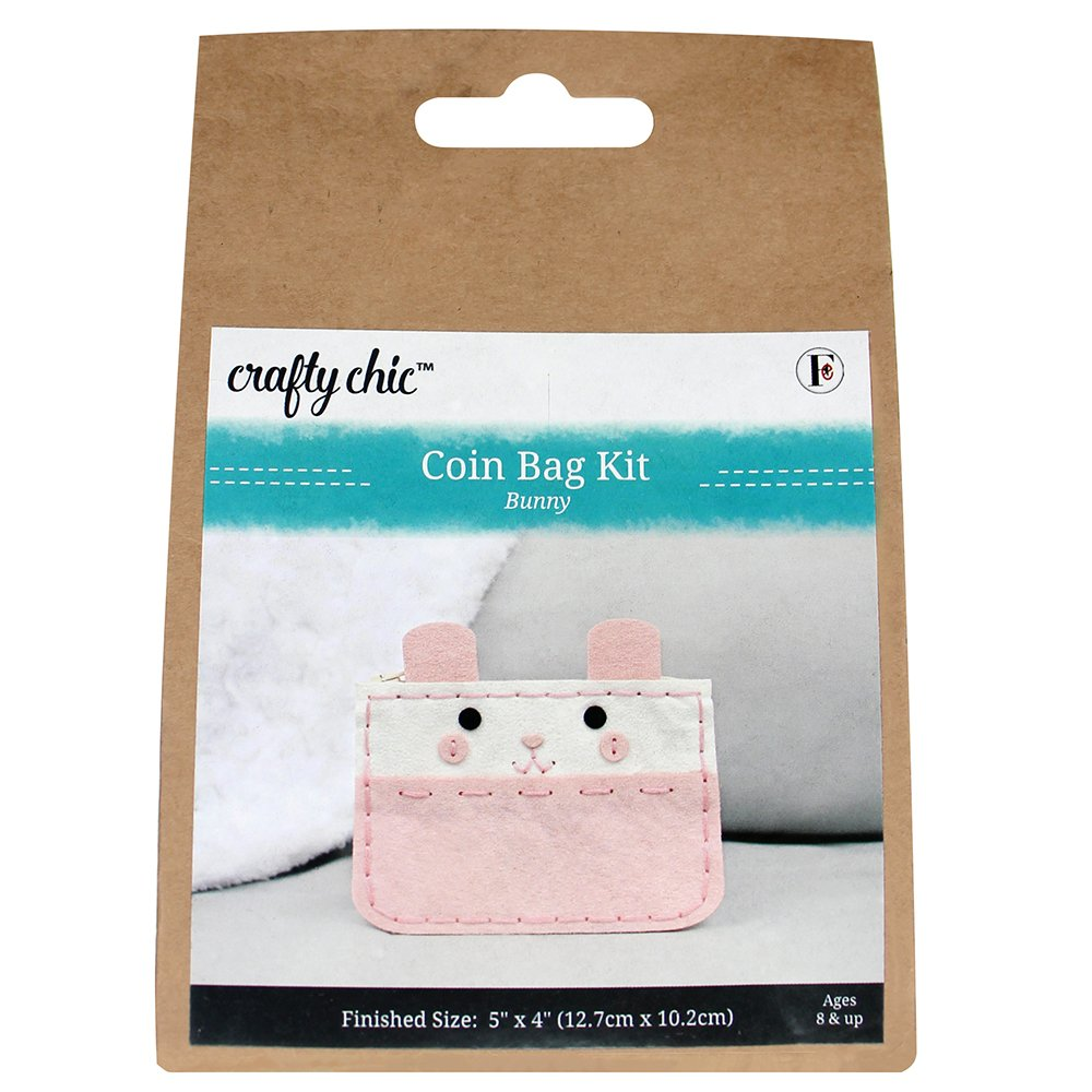 CRAFTY CHIC Coin Bag Kit - Bunny