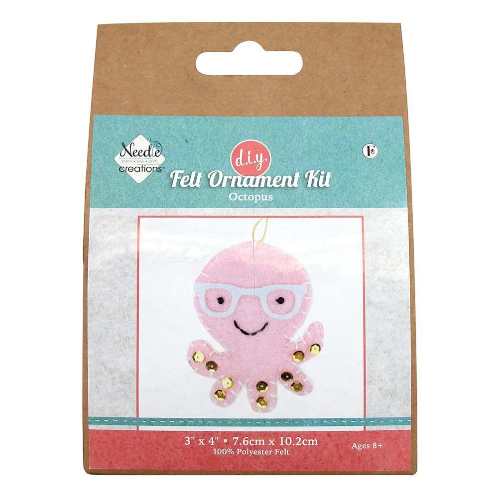 NEEDLE CREATIONS Felt Ornament Kit - Octopus