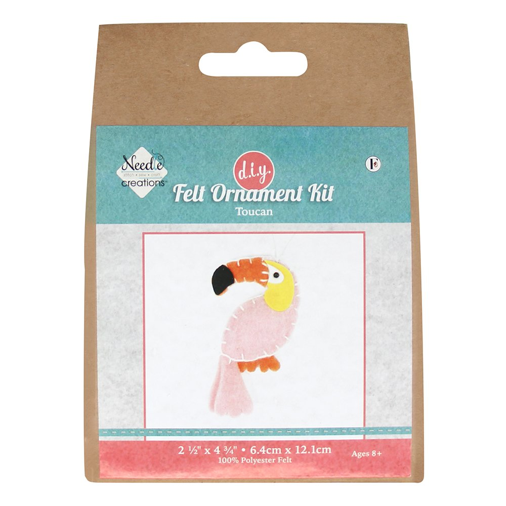 NEEDLE CREATIONS Felt Ornament Kit - Toucan