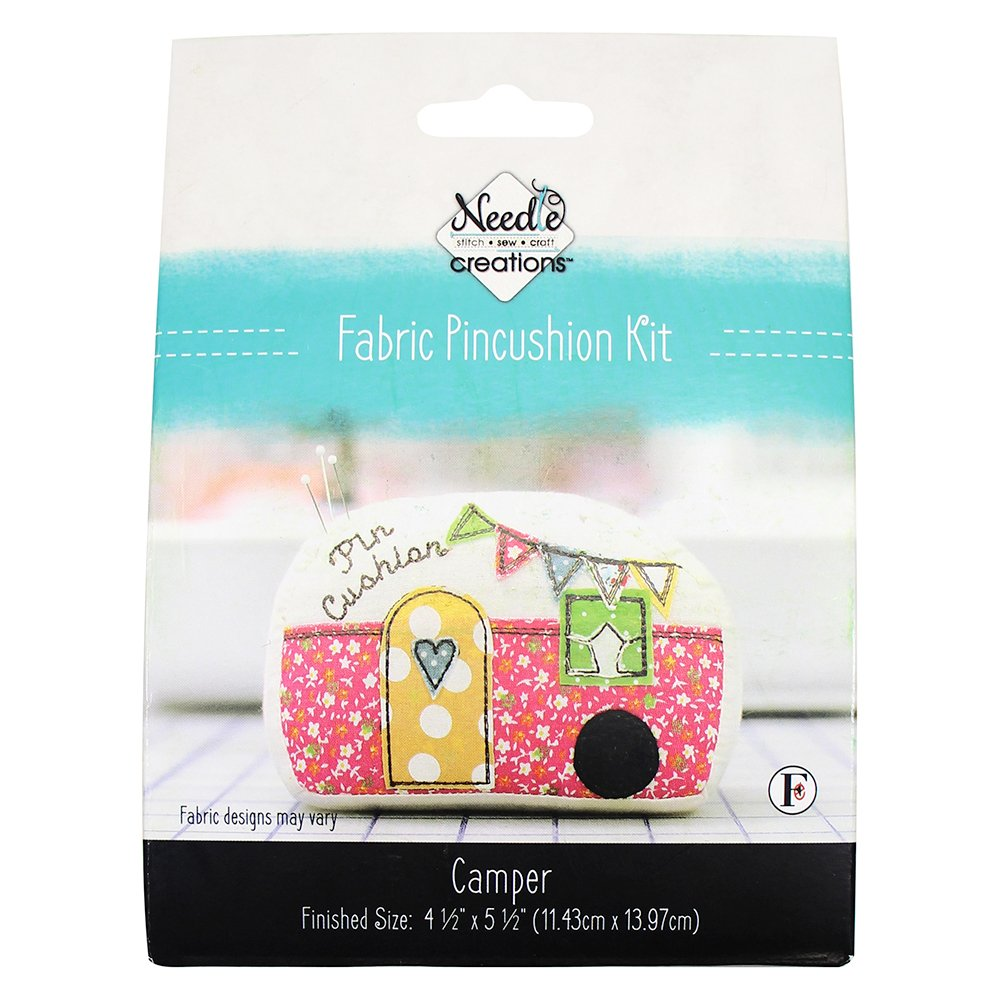 NEEDLE CREATIONS Fabric Pincushion Kit - Camper