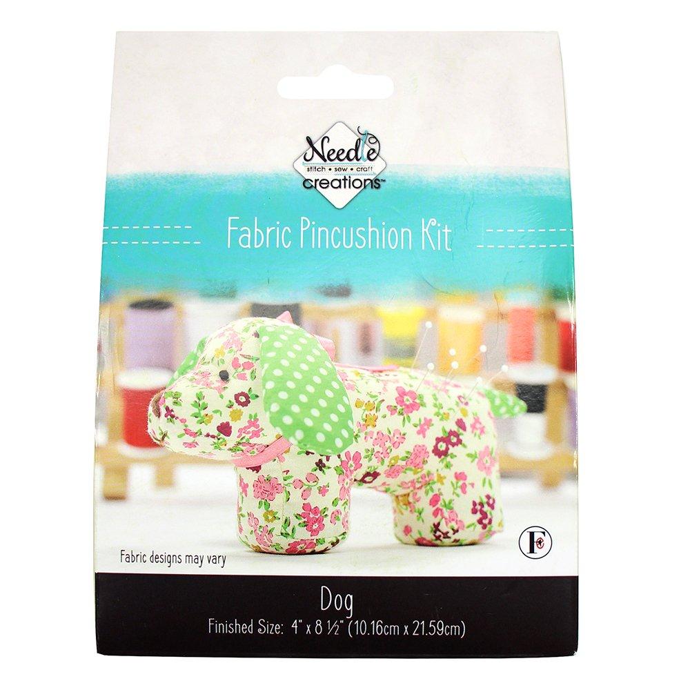 NEEDLE CREATIONS Fabric Pincushion Kit - Dog