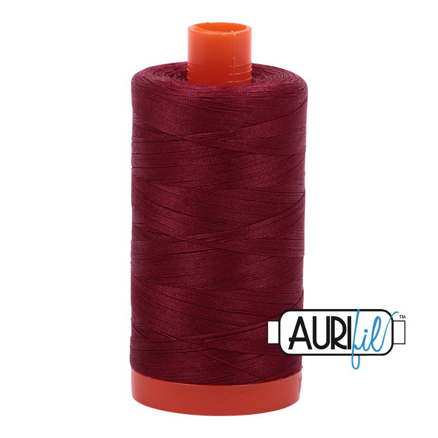 Aurifil 50wt thread 1300m - Dark Carmine Red (2460)
