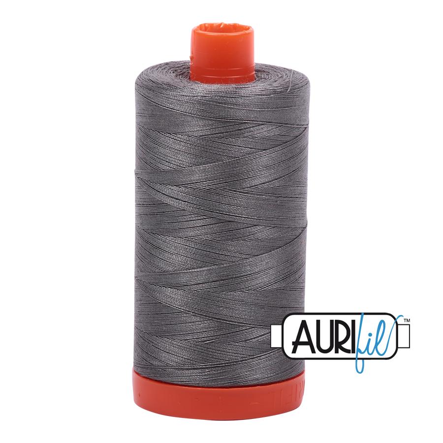 Aurifil 50wt thread 1300m - Grey Smoke (5004)