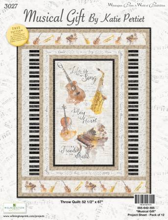 Musical Gift Throw Quilt Kit