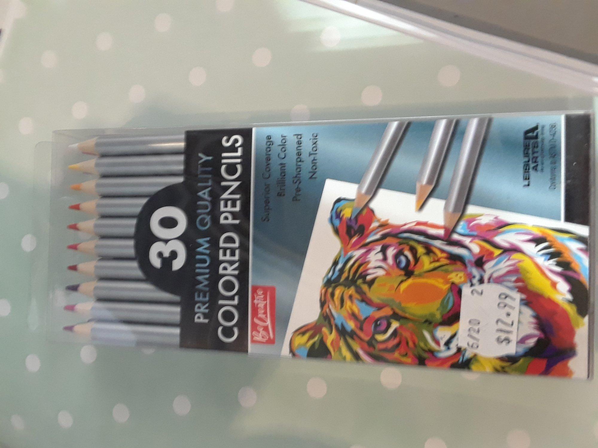 COLORED PENCILS PREMIUM by Leisure Arts 30 colors
