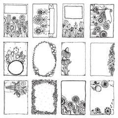 Adorn It - Art Play Paintables - Floral Frames