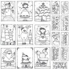 Adorn It - Art Play Paintables - Seasons Greetings