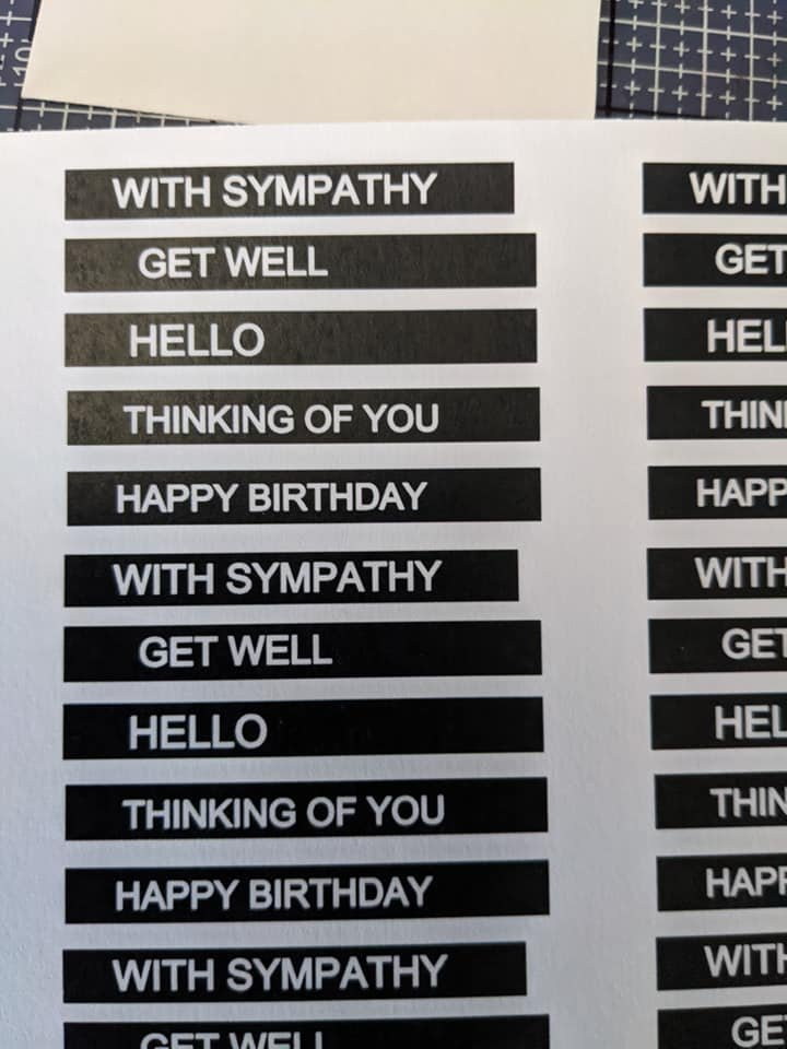 FREE DOWNLOAD - WORDS FOR CARDS BLACK AND WHITE 8 1/2 X11