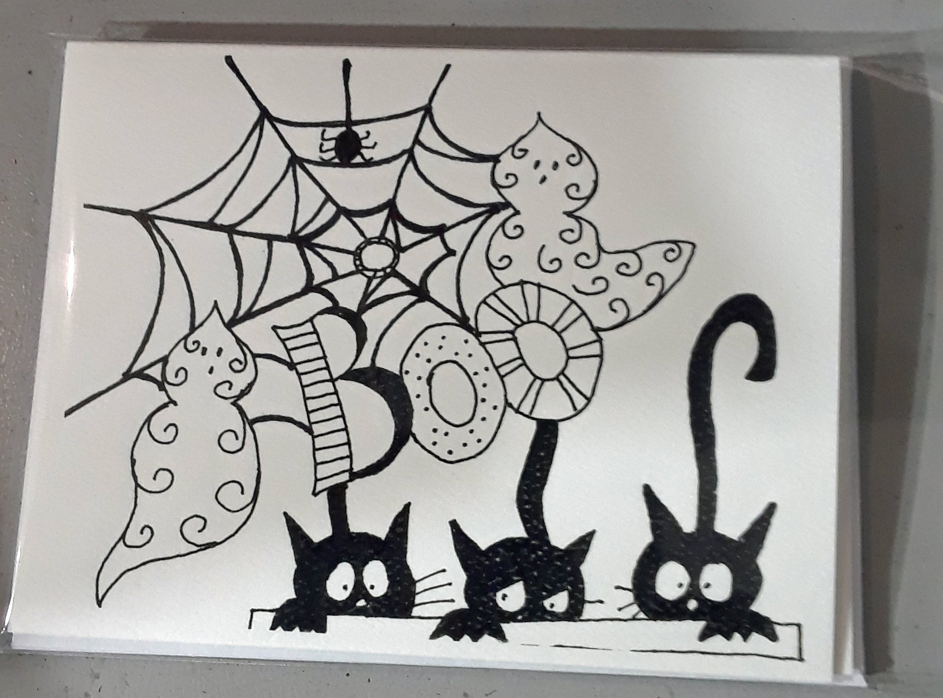 Dandylion Wishes Exclusive A2 Halloween 3 Black Cats 4/pkg