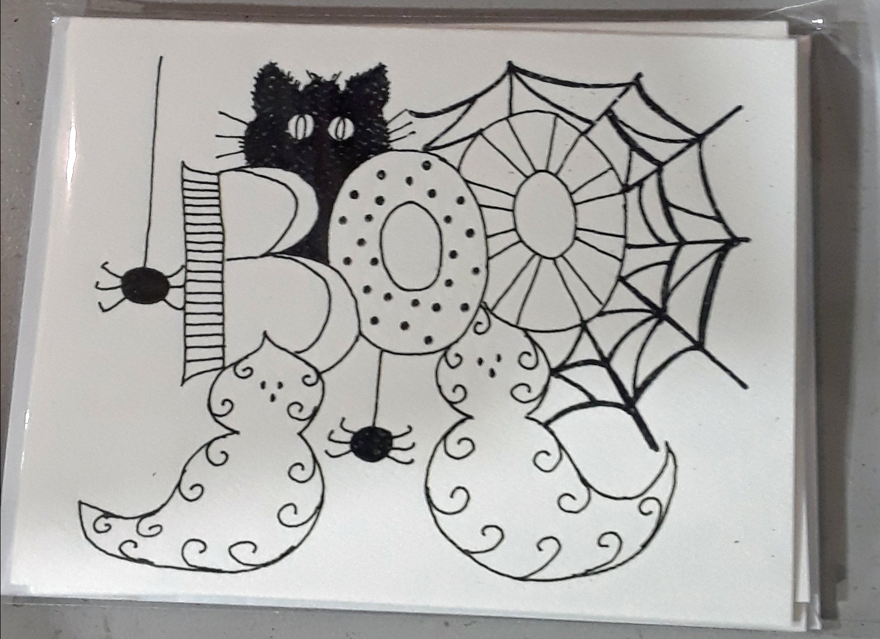 Dandylion Wishes Exclusive A2 Halloween Boo Card 4/pkg