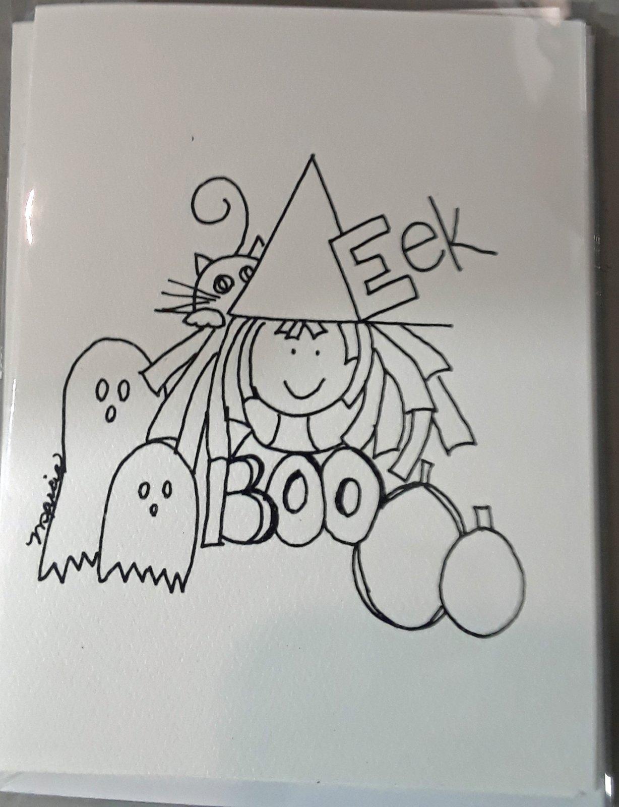Dandylion Wishes Exclusive A2 Halloween Witch EEK 4/pkg