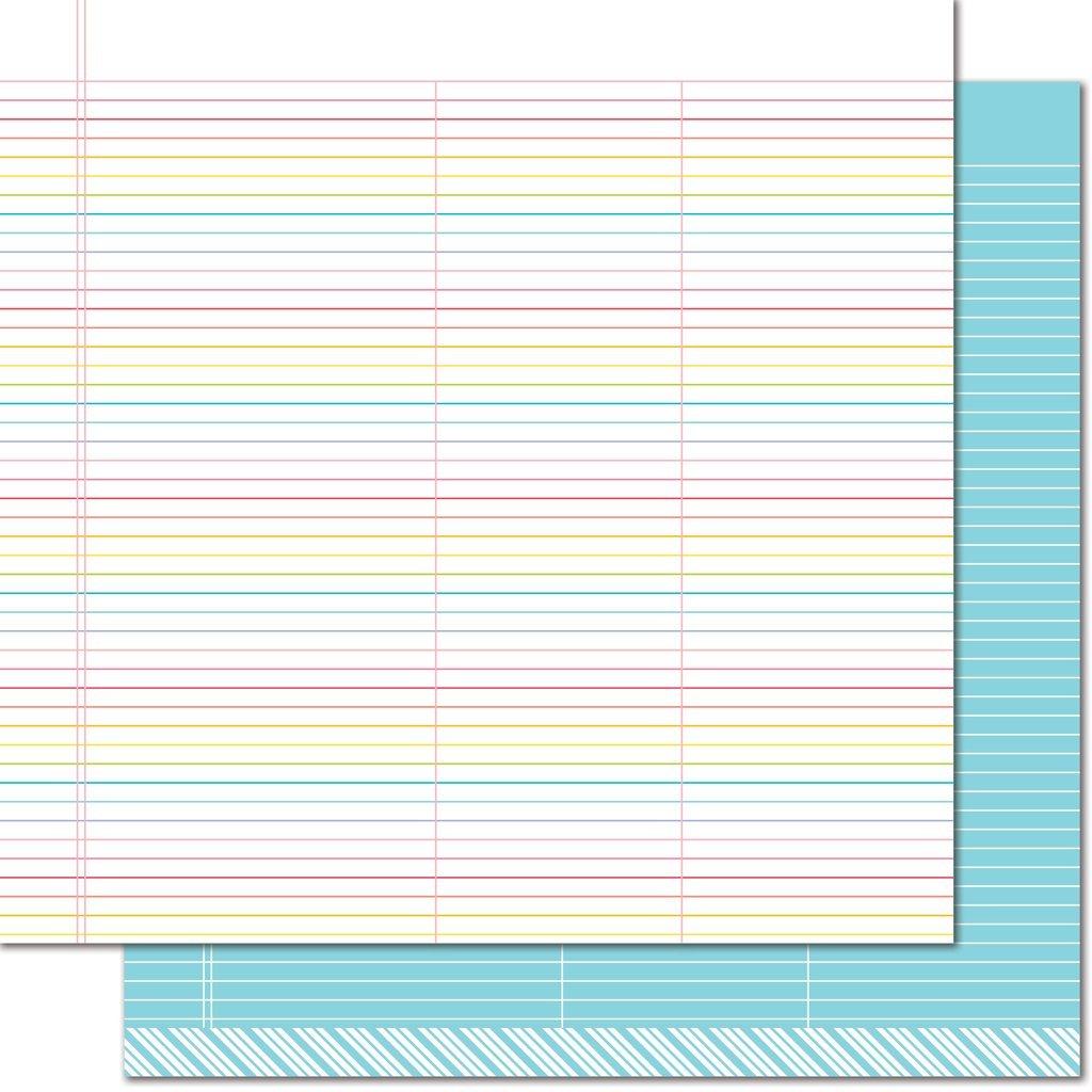 Lawn Fawn True Blue Rainbow Paper pk of 12