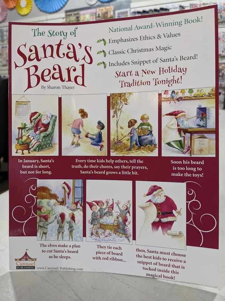 Book, Santa's Beard, paperback