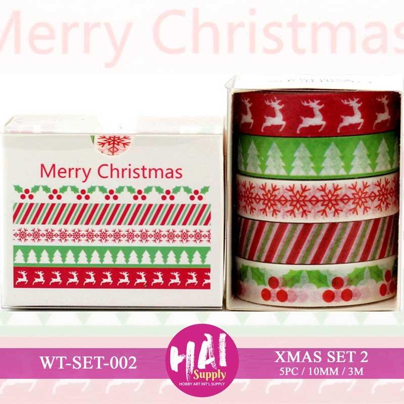 Washi Tape, HAI, Merry Christmas, Red/green