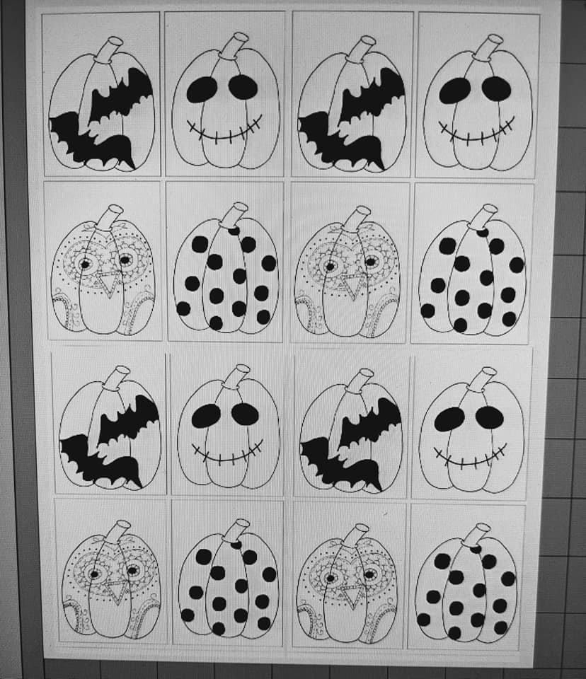 FREE DOWNLOAD - Pumpkin black and white