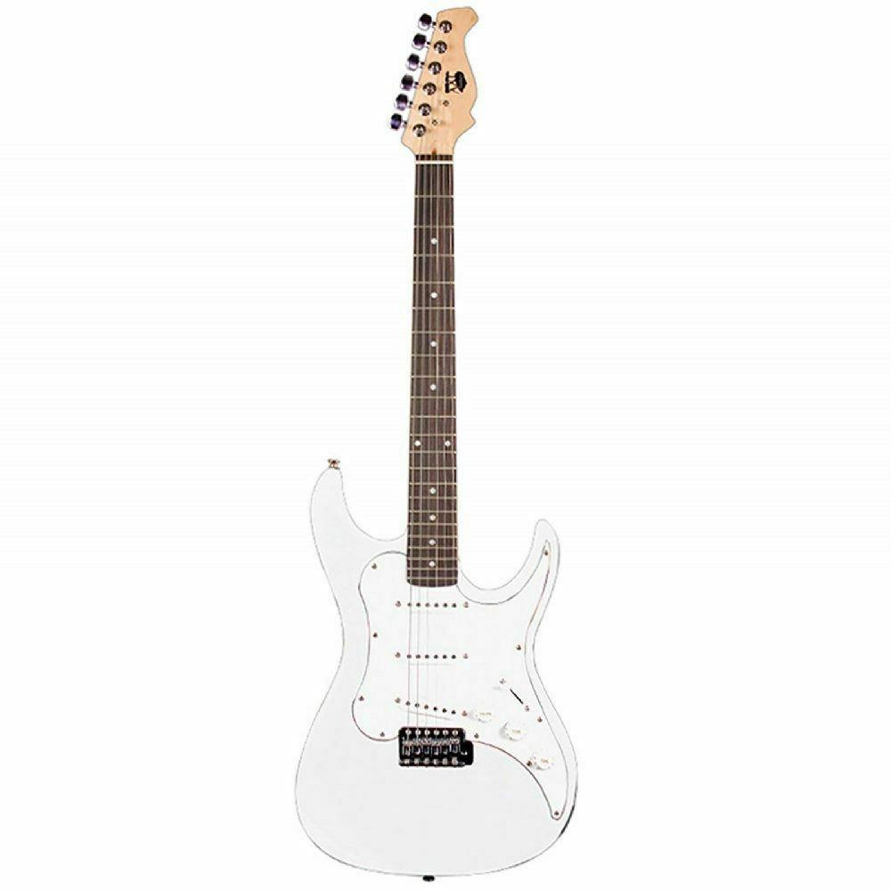AXL Electric Guitar, Double Cutaway, White
