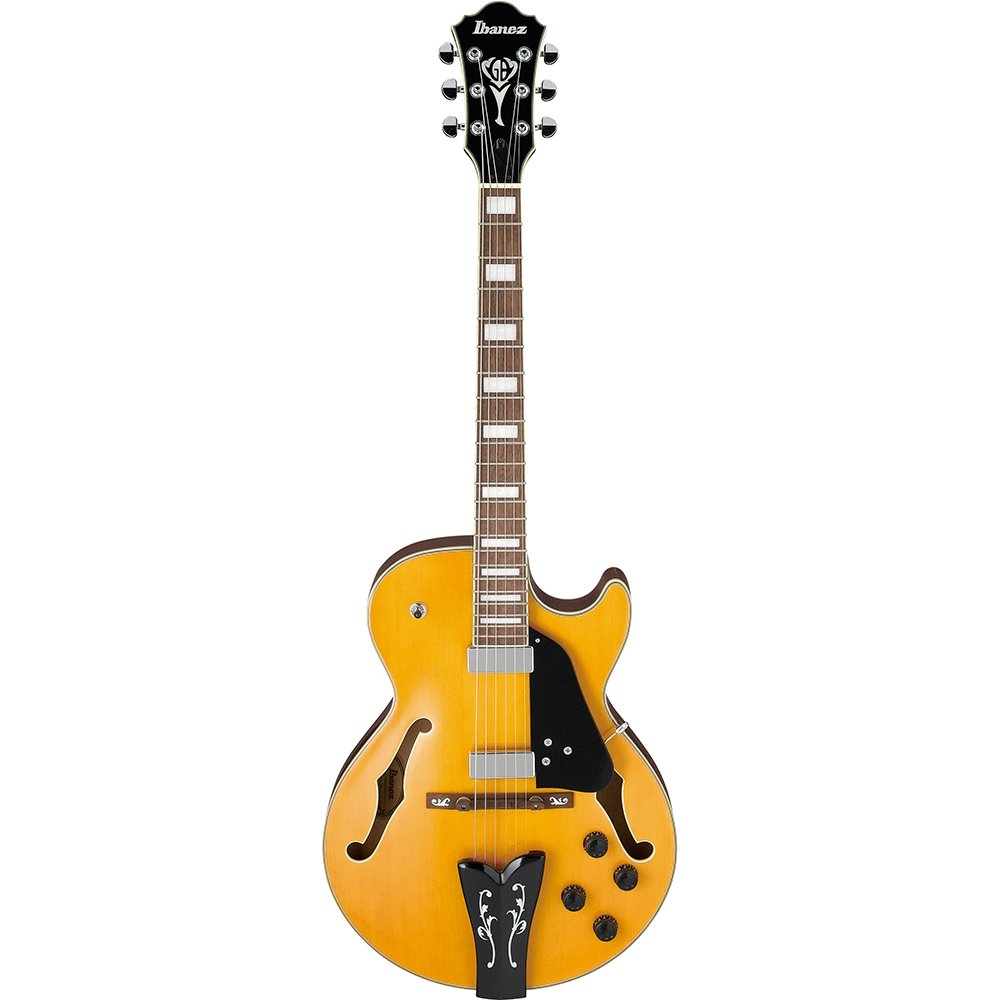 Ibanez George Benson Signature 6str Hollow Body Electric Guitar - Antique Amber