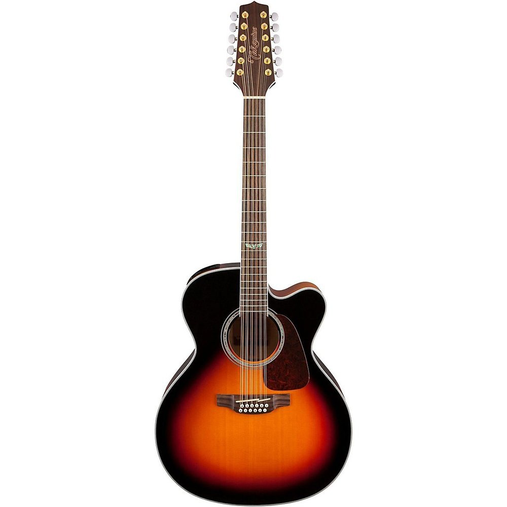 Takamine GJ72CE-12 G Series Jumbo Cutaway 12-String Acoustic-Electric Guitar  Gloss Sunburst
