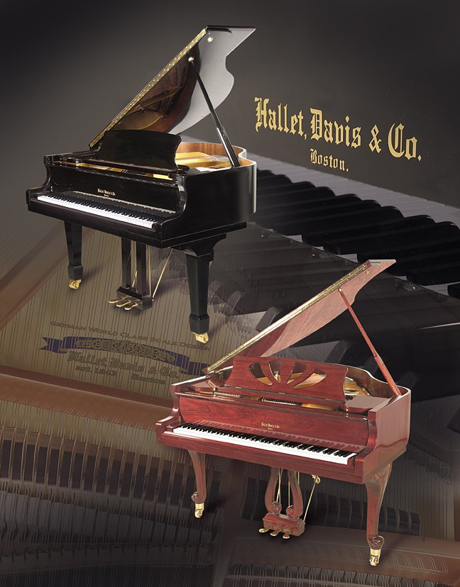 Hallet, Davis & Co. Ebony Mini Grand Acoustic Piano